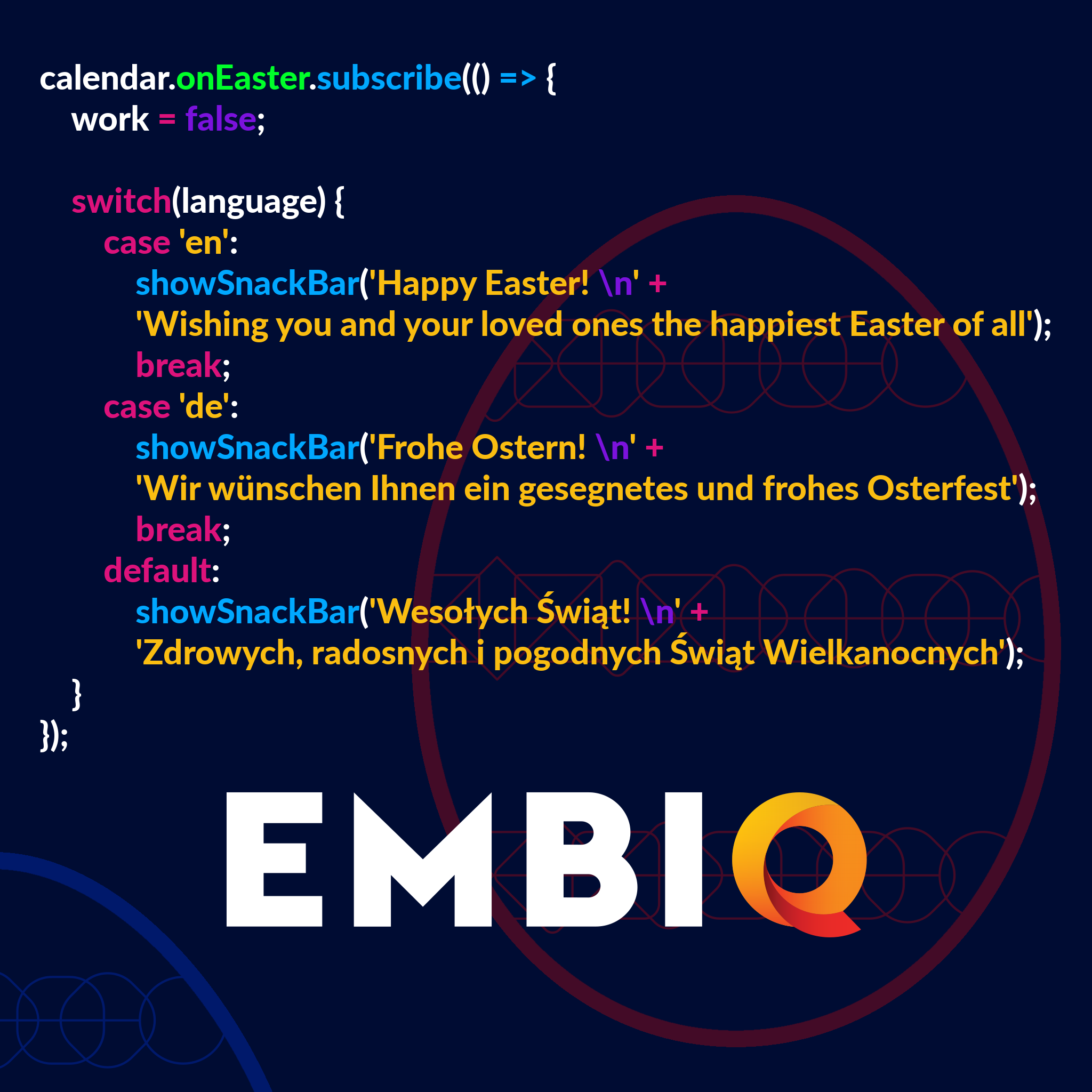 Easter Greetings from EMBIQ